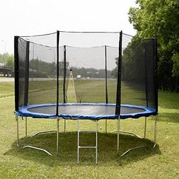 12 FT Trampoline Combo Bounce Jump Safety Enclosure Net W/Sp