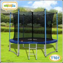 10FT Zupapa TRAMPOLINE Combo Jump Safety Enclosure Net Round
