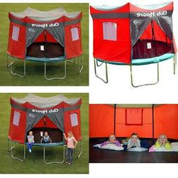 Trampoline Cover Clubhouse 12 Feet Zippered Tent Play Tarp H