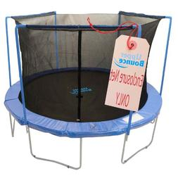 Upper Bounce Trampoline Enclosure Safety Net with Sleeves on