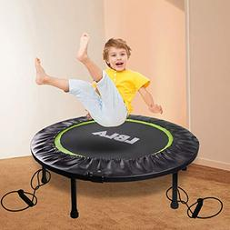 """38"""" Kids Trampoline with 2 Pull Ropes Adults Spring Trampoli"""