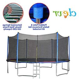 Clevr 15 ft Trampoline Outdoor Round Bounce Jumper, 15' with