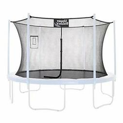 trampoline safety enclosure net with smartphone tablet