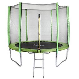 North Gear 8 Foot Trampoline Set with Safety Enclosure and L