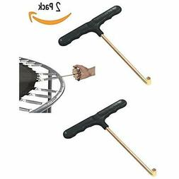 Trampoline Spring Pull Tool T-Hook 2 Pack Puller Sports &amp