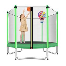 Lovely Snail Trampoline with Basketball Hoop-Trampoline for