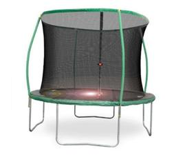 Trampoline With Light Safety Enclosure Net  Outdoor Toys Bac