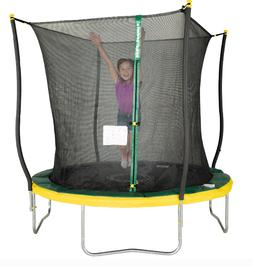 Trampoline With Safety Net + Light Outdoor Enclosure Backyar