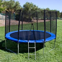 GLOOMALL Trampoline with Enclosure net and Poles Safety Pad