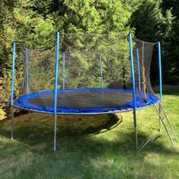 ALEKO TRP12 12 Foot Trampoline with Safety Net and Ladder, B