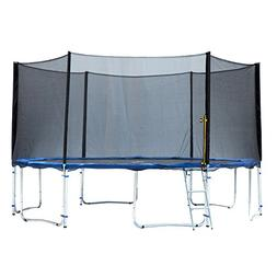 Exacme 6W Legs Trampoline with Safety Pad & Enclosure Net &