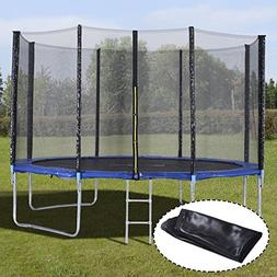 US 12FT Trampoline Combo Bounce Jump Safety Enclosure Net W/