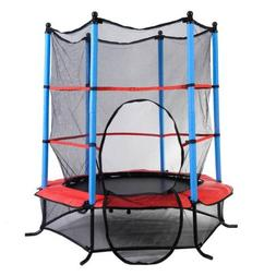 "Youth Jumping Round Trampoline 55"" Exercise W/ Safety Pad En"
