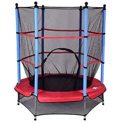 """Youth Jumping Round Trampoline 55"""" Exercise W/Safety Pad E"""